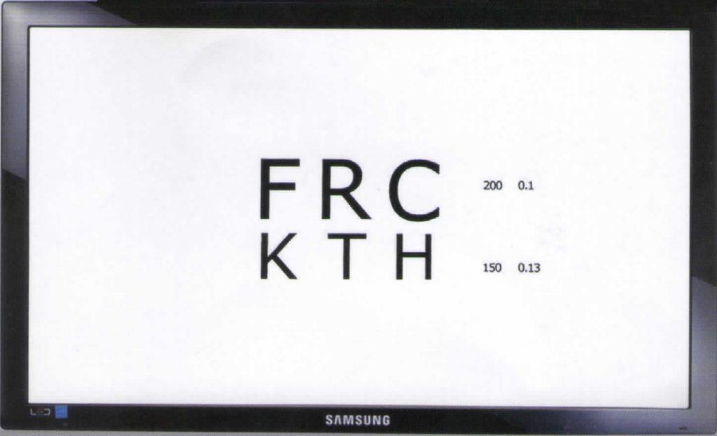 pantalla de optotipos pelli robson ishihara charts proyector